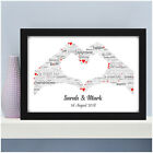 Personalised Engagement Congratulations Gifts Word Art Keepsake 2 Hands Engaged