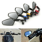 "7/8"" Universal Motorbike Motorcycle Handle Bar End Rearview Side Mirror Aluminum image"