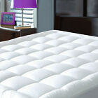 Mattress Topper Bed Pad Case Cover Pillow Top Soft Breathable Hypoallergenic NEW image