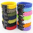 Survival Paracord Bracelet Rope Wristband Mens Camping Hiking Emergency Gear