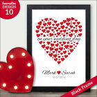 Wedding Gifts for Mr & Mrs Bride & Groom Personalised Heart Wedding Gifts Bride