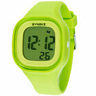 Women Waterproof Color LED Digital Sports Watch Girls Silicone Square WristwatchWristwatches - 31387