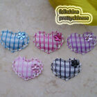 Gingham Heart With Flower Appliques Padded Craft Sewing Scrapbooking Trimming