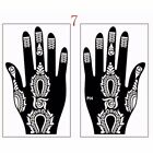 India Henna Temporary Tattoo Stencils Kit for Hand Arm Body Art Decal