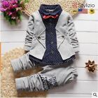 Baby Boy Clothes Formal Kids Suit 2Pcs Boys Set Born Gentleman Toddler Birthday