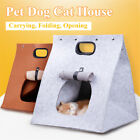 Pet Dog Cat Felt House Bed Foldable Portable Travel Carry Bag Carrier Handbag