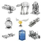 Metal Earth DIY 3D Model Kit Star Wars/Harry Potter/Batman/Dr Who/Ford - New