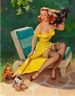 Gil Elvgren-Hold Everything, Canvas/Paper Print, Pinup Girl