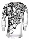 Xtreme Couture by AFFLICTION Men THERMAL T-Shirt ACCUSER Skull Biker MMA UFC $58 image