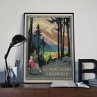 Vintage Le Mont Blanc French Travel & Tourism Poster Print Poster Picture A3 A4