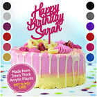 PERSONALISED Birthday Cake Toppers Custom ANY NAME 13 16 18 21 30 40 50 60 70