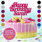 Custom Personalised Cake Topper Happy Birthday Party Decoration ANY NAME WORD