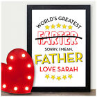 Worlds Greatest Farter Father PERSONALISED FATHERS DAY GIFTS for Dad Daddy