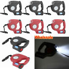 16ft Automatic Retractable Dog Leash Pet Collar With 3 LED Light W/ Garbage Bags