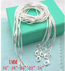 WHOLESALE 5PCS Silver JEWELRY SNAKE CHAINS NECKLACES 16-24inch