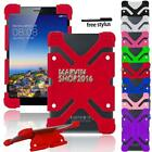 """For Various 7"""" 8"""" Tablet Universal Shockproof Silicone Stand Cover Case + Pen"""