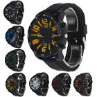 Men Silicone Rubber Band Stainless Steel Analog Quartz Sport Watch Cheap GT