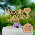Happily ever after PERSONALISED Wooden Wedding Cake Topper Mr Mrs Keepsake