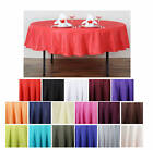 """90"""" Round Polyester Tablecloth"""