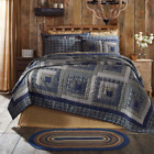 COLUMBUS QUILT SET-choose size & accessories-Log Cabin Navy Blue VHC Brands image