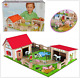 Wooden Farm Play Set Kids Childrens Childs Figures Animals Toy Fun Houses Gift