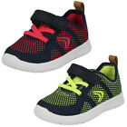 Childrens Clarks Ath Flux Hook & Loop Strap Casual First Trainers