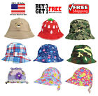 Cute Newborn Baby Infant Toddler Boys Girls Sun Bucket Hat Visor Summer Beach