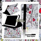 """For Barnes & Noble NOOK 7"""" 9"""" Tablet - FOLIO LEATHER STAND CASE COVER + Stylus"""