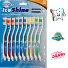 10 X TOOTHBRUSHES ORAL DENTAL CARE CLEAN HYGIENE ADULT KIDS EASY TO HOLD HANDLE