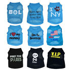 Boy Dog Clothes Male Pet Cat Apparel Summer shirt Vest for Chihuahua yorkie XS-L