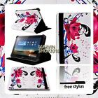 """For Various 7"""" Huawei MediaPad Tablet - FOLIO LEATHER STAND CASE COVER + Stylus"""