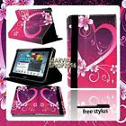 For Various Samsung Galaxy Note Tablet - FOLIO LEATHER STAND CASE COVER + pen