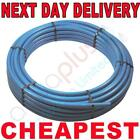 Blue MDPE alkathene underground mains cold water mains supply pipe roll 100m 50m
