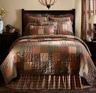 CROSSWOODS QUILT SET-choose size & accessories-Primitive Plaid Check VHC Brands image