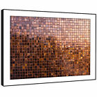 AB1393 Retro Brown Squares Modern Abstract Framed Wall Art Large Picture Prints