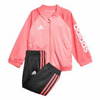 adidas Shiny Sports Infant Toddler Baby Kids Girls Tracksuit Set Pink