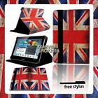 For Various Samsung Galaxy Tab 2/3/4 Tablet -FOLIO LEATHER STAND CASE COVER +pen