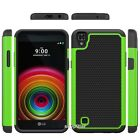 """5.3"""" LG X Power Rugged Rubber Dual Layer Impact Hybrid Hard Case Cover Canada"""