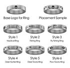 Loyola Chicago Ramblers Hunting and Fishing Rings | Stainless Steel 8mm Wide