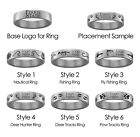Ferris State Bulldogs Hunting and Fishing Rings | Stainless Steel 8mm Wide