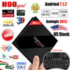 H96 PRO+ Plus Smart TV Box 3G/64G Andriod 7.1 S912 Octa Core WIFI BT4.1+Keyboard