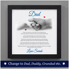 Personalised First 1st Fathers Day Gifts from Daughter Son Fathers Day Poem Gift