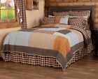 RORY QUILT SET-choose size & accessories-Plaid Brown Greige Rustic VHC Brands image