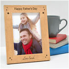 Fathers Day Gifts - Personalised Engraved Photo Frame - Happy Fathers Day Gifts