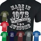 Mens T-Shirt Made in 1968 50th Year Birthday Tshirt Present Gift Vintage look