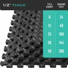 Wholesale 24/240 Sq.Ft EVA Foam Floor Mat Interlocking Exercise Gym Pad Black EC image