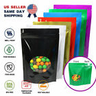 colored zip lock bags - Multi-Color & Size Glossy Mylar Stand up Zip Lock Bag w/ Round Window M51