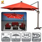 New 10x10' Off-Set Hanging Roma Patio Parasol Pool Tilt& 360 Rotation w Protect
