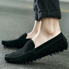 2018 Men Minimalism Driving Loafers Suede Leather Moccasins Slip On Penny Shoes