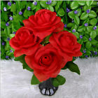 US Seller Home Wedding Party Decor Rose Bouquet Bunch Silk Artificial Flowers